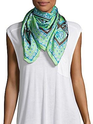Southwestern Floral Silk Scarf
