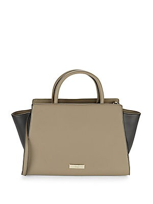 Two-Toned Leather Tote