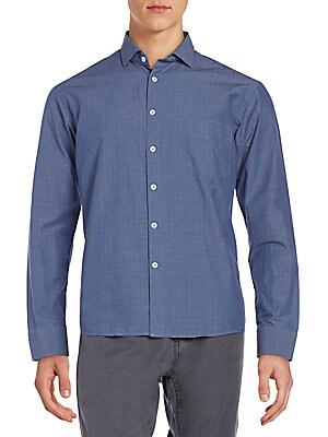 Standard-Fit Cotton Sportshirt