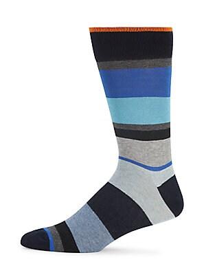 Striped Mid-Calf Length Socks