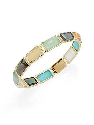 Rock Candy Multi-Stone & 18K Yellow Gold Bangle Bracelet