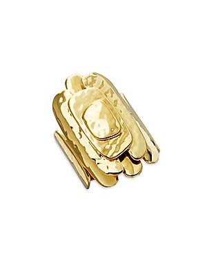 Glamazon 18K Yellow Gold Layered Square Ring