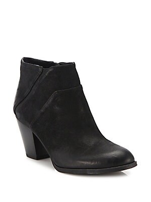 Arielle Side Zipper Suede Ankle Boots