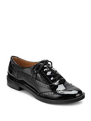 Illia Patent Lace-Up Loafers