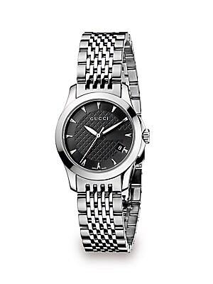 G-Timeless Stainless Steel Bracelet Watch/Black