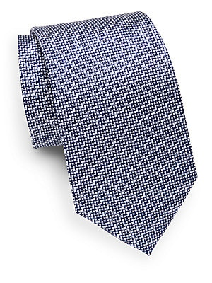 Cone Patterned Silk Tie