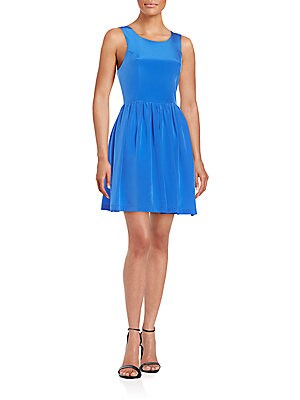 Emmie Silk Fit-&-Flare Dress