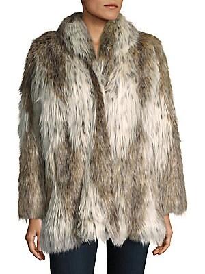 Russian Lynx Faux Fur Coat