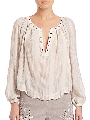Against All Odds Snap Blouse
