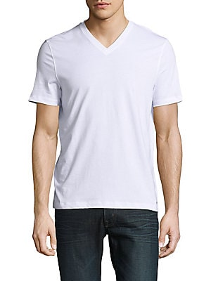 michael kors male vneck solid cotton tee