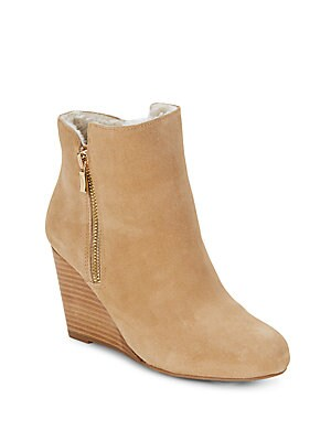 Waverly Faux Fur Suede Wedge Boots