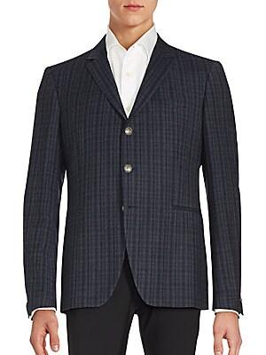 Austin Fit Plaid Virgin Wool Sportcoat