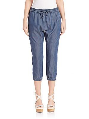 Organic Blend Cropped Denim Pants