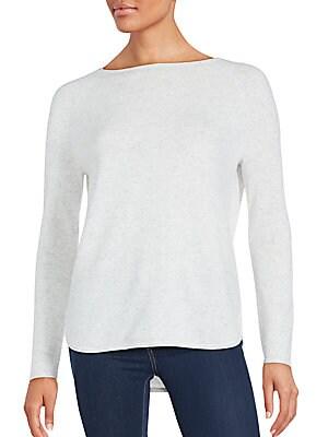 Shirttail Hem Wool & Cashmere Pullover