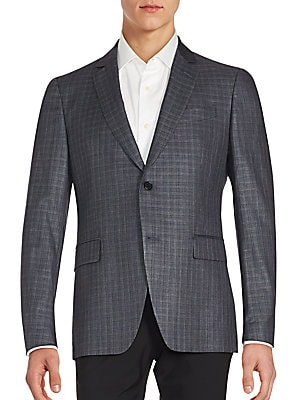 Austin Fit Check Virgin Wool & Silk Sportcoat