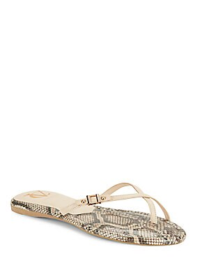 Fauna Leather Thong Sandals