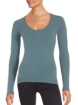 Cashmere-Blend Scoopneck Sweater
