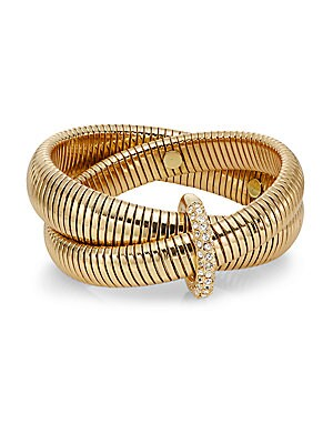 Denim & Links Coiled Wrap Bracelet