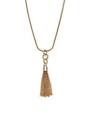 Caribbean Coral Tassel Pendant Necklace