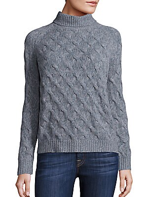 Cable Knitted Cashmere Sweater