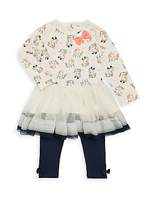 Baby's Tulle Skirt Tunic & Leggings Set