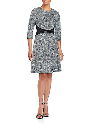 Textured Fit-&-Flare Dress