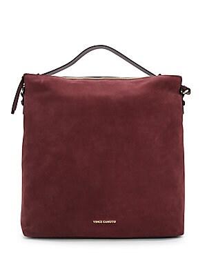 Suede Hobo Handbag