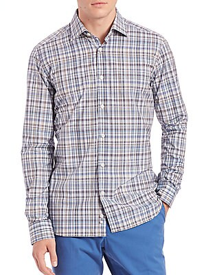Plaid Cotton Sportshirt