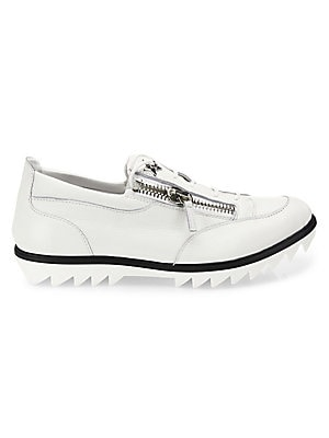 Double Zip Lace-Up Sneakers