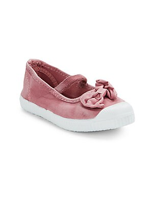 Girl's Canvas Bow Mary Janes