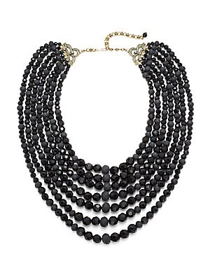 Plaza Chic Multi-Strand Faceted Necklace