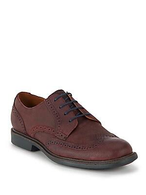 Great Jones Textured Leather Wingtip Oxfords