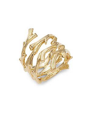 Enchanted Forest 18K Gold Twig Ring