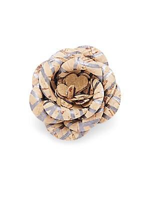 Cork Button Flower Pin