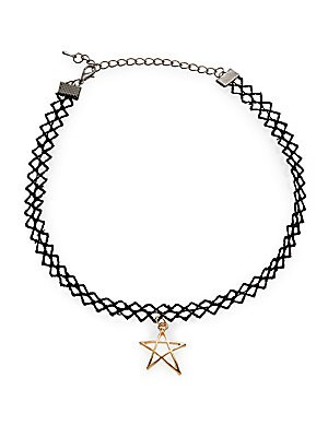 Star Pendant Choker Necklace