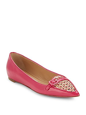 Patent Leather Point Toe Ballet Flats