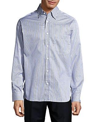 Regular-Fit Multistriped Cotton Dress Shirt