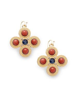 Contrast Goldtone Earrings
