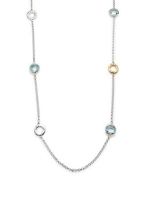 Click here for Topaz  24K Yellow Gold & Sterling Silver Chain Nec... prices