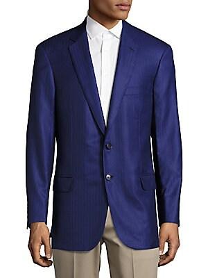 Regular-Fit Tonal Striped Wool & Silk Sportcoat
