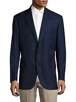 Solid Italian Wool Sportcoat