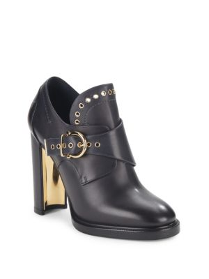 Leather Gancio Buckle Monk Strap Booties