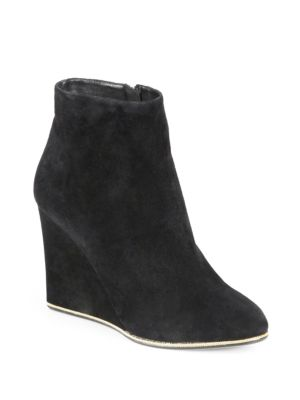 Fiamma Suede Wedge Ankle Boots