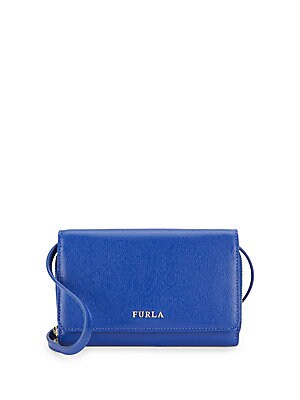 Saffiano Leather Crossbody Wallet