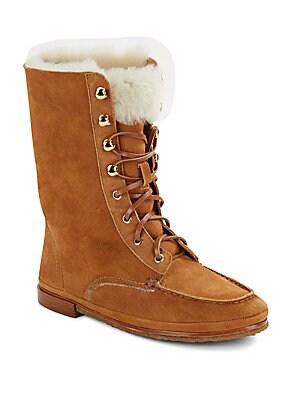 Lester Faux Fur & Suede Boots