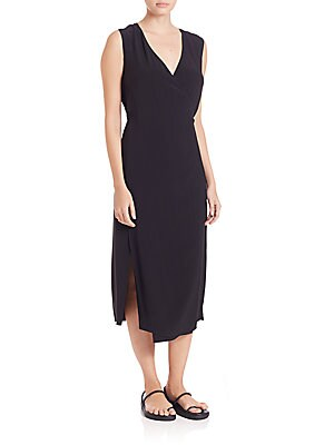 Side Slit Wrap Dress