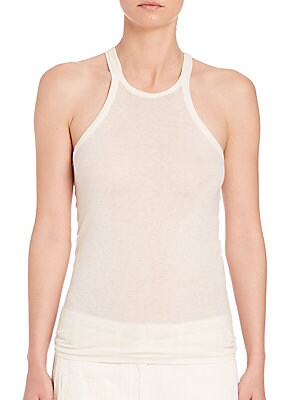 Cotton & Cashmere Scoopneck Tank