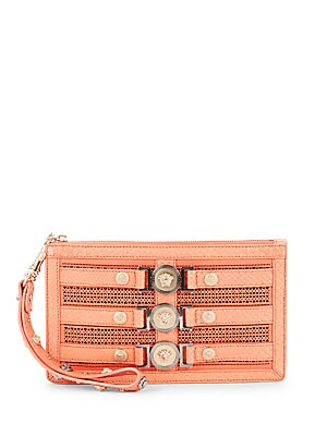 Textured Leather Wristlet