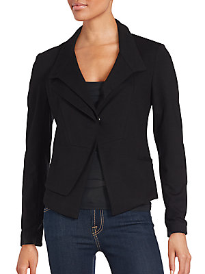 Solid Long Sleeve Cropped Jacket