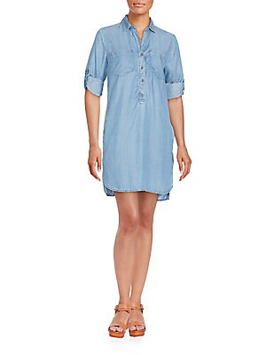 Roll-Tab Shirtdress